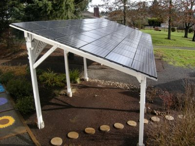building integrated solar trellis