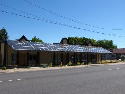 Home Power Magazine, BIPV Awning Design. Phoenix, OR.