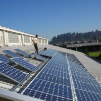 u of o student recreation center ballasted solar installation