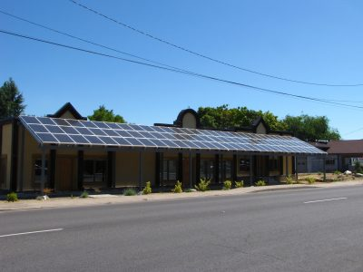 Home Power Magazine, BIPV Awning Design. Phoenix, OR.