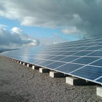 ground mounted solar with sky