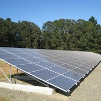 Ground mounted PV Array for Winery