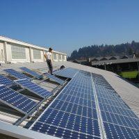 u of o student recreation center ballasted solar installation